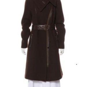 Mackage Brown Bordeaux Wool Coat Size Large